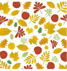 abstract autumn floral pattern background vector image