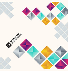 abstract colorful geometric square pattern vector image