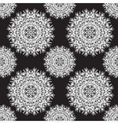 abstract snowflake pattern vector image