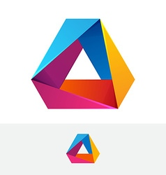 Abstract triangle logo vector