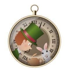 Alice in wonderland mad tea party hatter vector