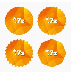 Archive file icon Download 7z button vector image