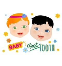 Baby First Tooth vector image vector image