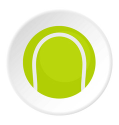 ball for playing tennis icon circle vector image