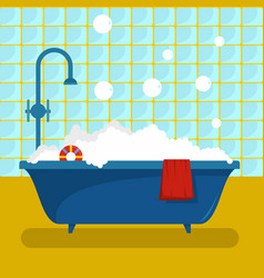 bathroom icon flat style vector image