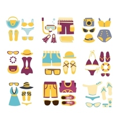 Beach Outfit Combinations Of Clothing And vector image