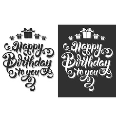 Birthday lettering vector image