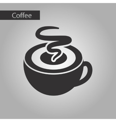 Black and white style coffee cup vector