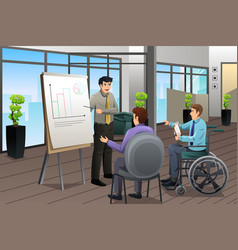 Businessman meeting in office vector