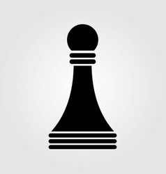 chess pawn icon isolated on white background vector image