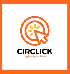 circle arrow click logo vector image