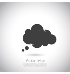 Cloud icon speech bubble vector image