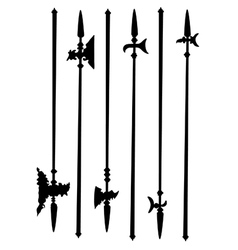 Collection ancient halberds vector