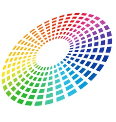 color equalizer circle vector image