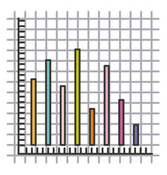 Colorful silhouette of statistic graphic bars vector