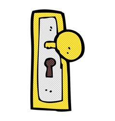 comic cartoon door knob vector image
