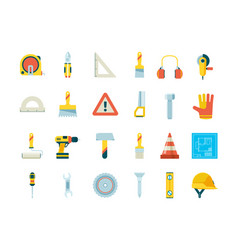 construction equipment industrial tools for vector image
