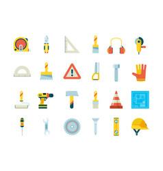 construction equipment industrial tools vector image