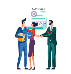 contract conclusion concept vector image