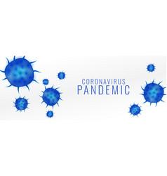Coronavirus pandemic covid19 virus outbreak vector