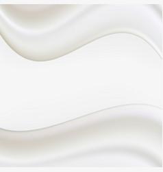 creamy beige silky frame vector image