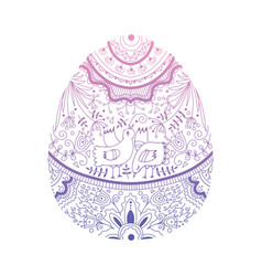 decorated easter eg vector image
