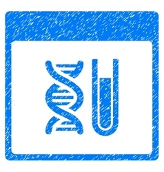 DNA Analysis Calendar Page Grainy Texture Icon vector