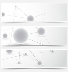 Flyers banners templates - molecule pattern vector image