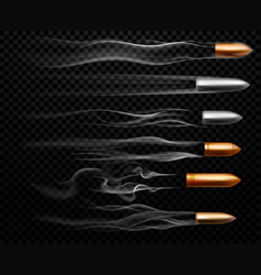 flying bullet traces shooting military bullets vector image