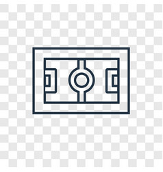 football field concept linear icon isolated on vector image