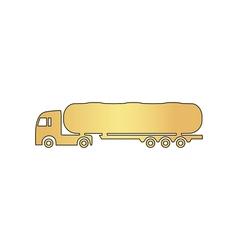 Fuel Truck computer symbol vector image