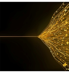 Gold abstract lines vector