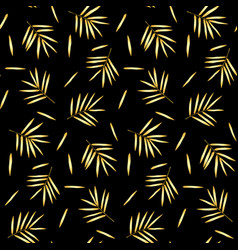 gold bamboo seamless pattern vector image