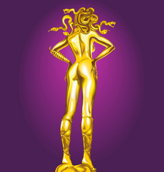 golden statue of medusa vector image