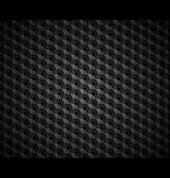 hexagonal black embossed pattern plastic vector image