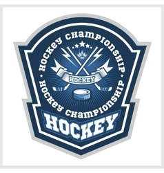 Hockey championship logo labels sport vector