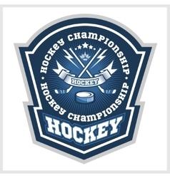 Hockey championship logo labels sport vector image