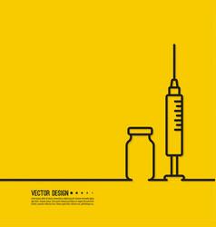 icon medical syringe vector image