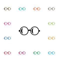isolated glasses icon spectacles element vector image