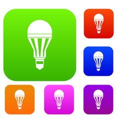Led bulb set collection vector