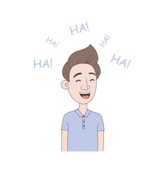 man laughs vector image