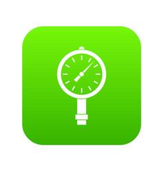 Manometer or pressure gauge icon digital green vector