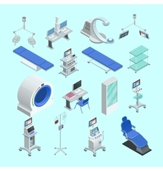Medical Equipment Isometric Icons Set vector