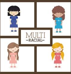 Multiracial design vector