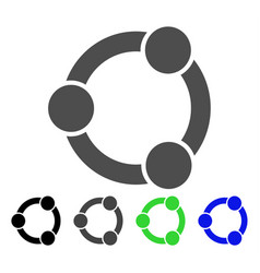 Network relations flat icon vector