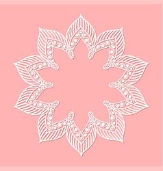 Oriental decorative mandala frame on pink vector