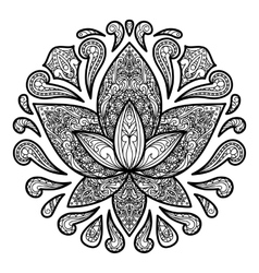 Ornamental Lotus Tattoo Sign vector