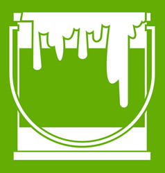 paint can icon green vector image