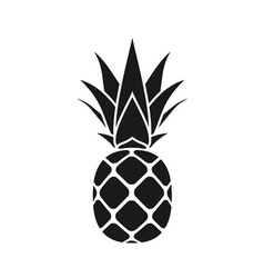 pineapple leaf icon gray vector image