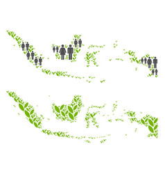 Population and agriculture indonesia map vector